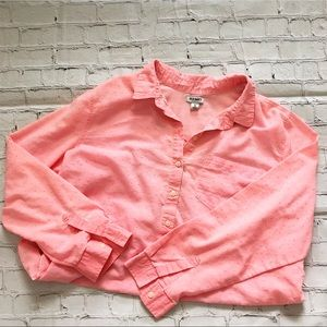Old Navy Pink Long Sleeve Blouse